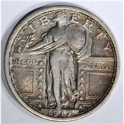 1917 TYPE-1 STANDING LIBERTY QUARTER, VF/XF
