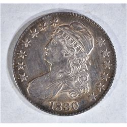 1830 CAPPED BUST HALF DOLLAR LARGE 0
