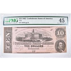 1862 $10 CONFEDERATE STATES OF AMERICA