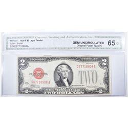 1928-F $2 LEGAL TENDER RED SEAL FR-1507