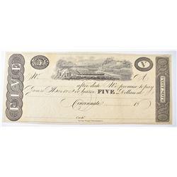 1810-1815 $5 JAMES MONROE NOTE  CH.CU