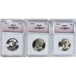 3-SILVER KENNEDY 50c GRADED WHSG