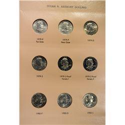SUSAN B ANTHONY DOLLAR SET 1979-1999