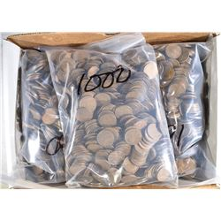 3000-MIXED DATE CIRC LINCOLN WHEAT CENTS