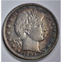 1893 BARBER HALF DOLLAR  AU