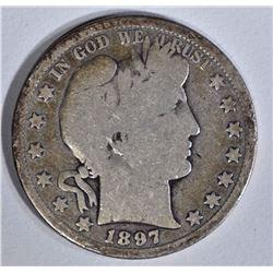 1897-S BARBER HALF DOLLAR  GOOD