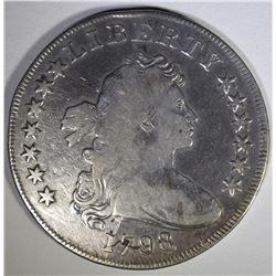 1798 DRAPED BUST SILVER DOLLAR  VF+