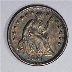 1851-O SEATED LIBERTY HALF DIME  CH BU+