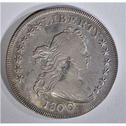 1800 DRAPED BUST SILVER DOLLAR  AU