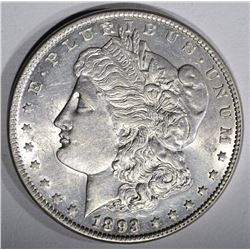 1893 MORGAN SILVER DOLLAR  BU