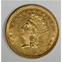 1873 GOLD $1 DOLLAR CLOSED 3  CH BU
