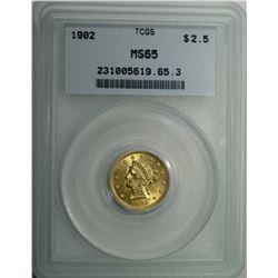 1902 $2 1/2 GOLD LIBERTY HEAD TCGS CH BU