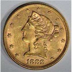 1888 $5 GOLD LIBERTY HEAD  CH BU