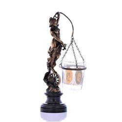 Rare Art Nouveau Bronze Candle Stand