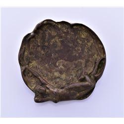 Antique Art Nouveau Bronze Ashtray