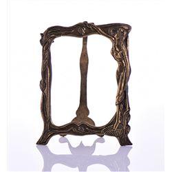 Antique Art Nouveau Bronze Picture Frame