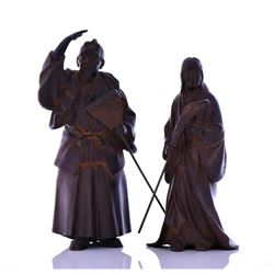 Two Japanese Cast Iron Sculptures