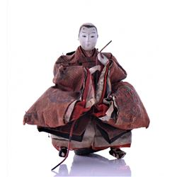 Antique Japanese Ceramic Doll With Hand
