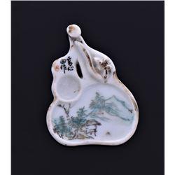 Antique Japanese Porcelain Ink Dish