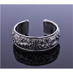 Antique Chinese Sterling Silver Cuff Bracelet