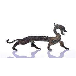 Antique Chinese Bronze Dragon Figure