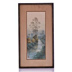 Antique Original Chinese Watercolor