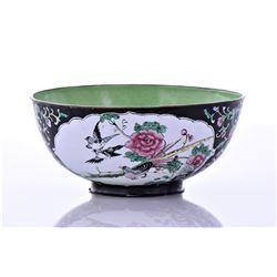 Chinese Early 19th Century Enamel Bowl