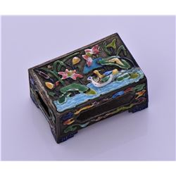 Antique Chinese Enamel Metal Match Box