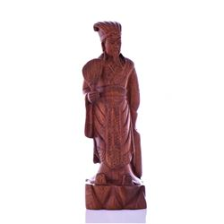 Modern Chinese Wood Carving Of Militarist