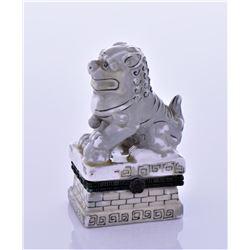 Chinese Foo Dog Glazed Ceramic Trinket