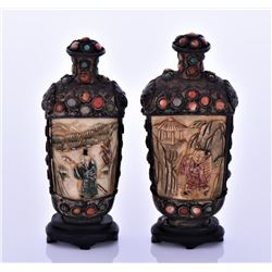 Two 19th Century Sino Tibetan Snuff Bottle