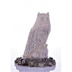 Owl Carved From Horn