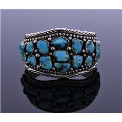 Native American Turquoise Nickel Silver