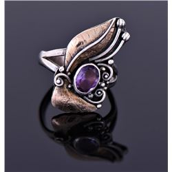 Sterling Ring With Amethyst