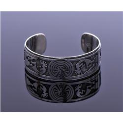 Vintage Hopi Sterling Silver Cuff Bracelet