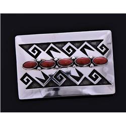 Jn, Navajo Sterling Silver Red Coral