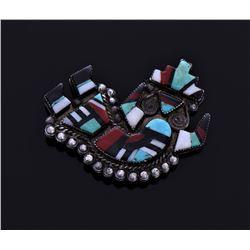 Zuni Handcrafted Rainbow Dancer Pin