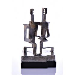 Modern Art Metal Sculpture Of A Loving