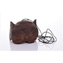 South Pacific Wood Tribal Mask Hollow
