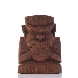 Maori Wood Carved Demon
