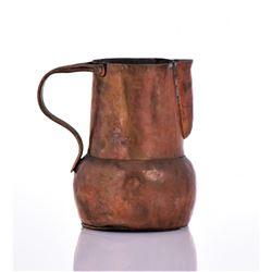 19th Century Antique Copper Pitcher