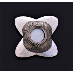Early 1900's Mother Of Pearl Pill Box