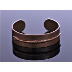 Vintage Snake Copper Cuff Bracelet