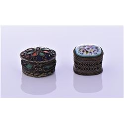 Two Antique Pill Boxes