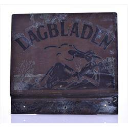Antique Dutch Dagbladen Brass Mailbox