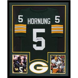 b3b0f401e4d Paul Hornung Signed Packers 34x42 Custom Framed Jersey (JSA COA)