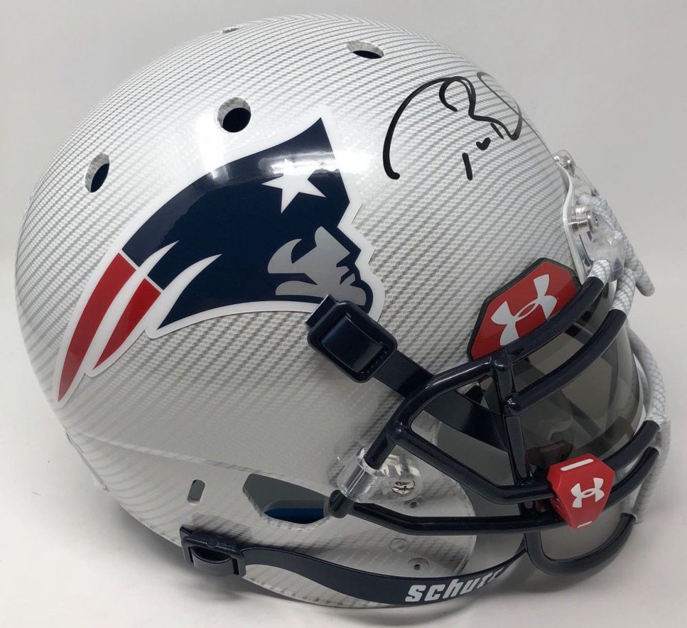 competitive price 1c827 c494d Tom Brady Signed Patriots LE Custom Hydro Dipped White ...
