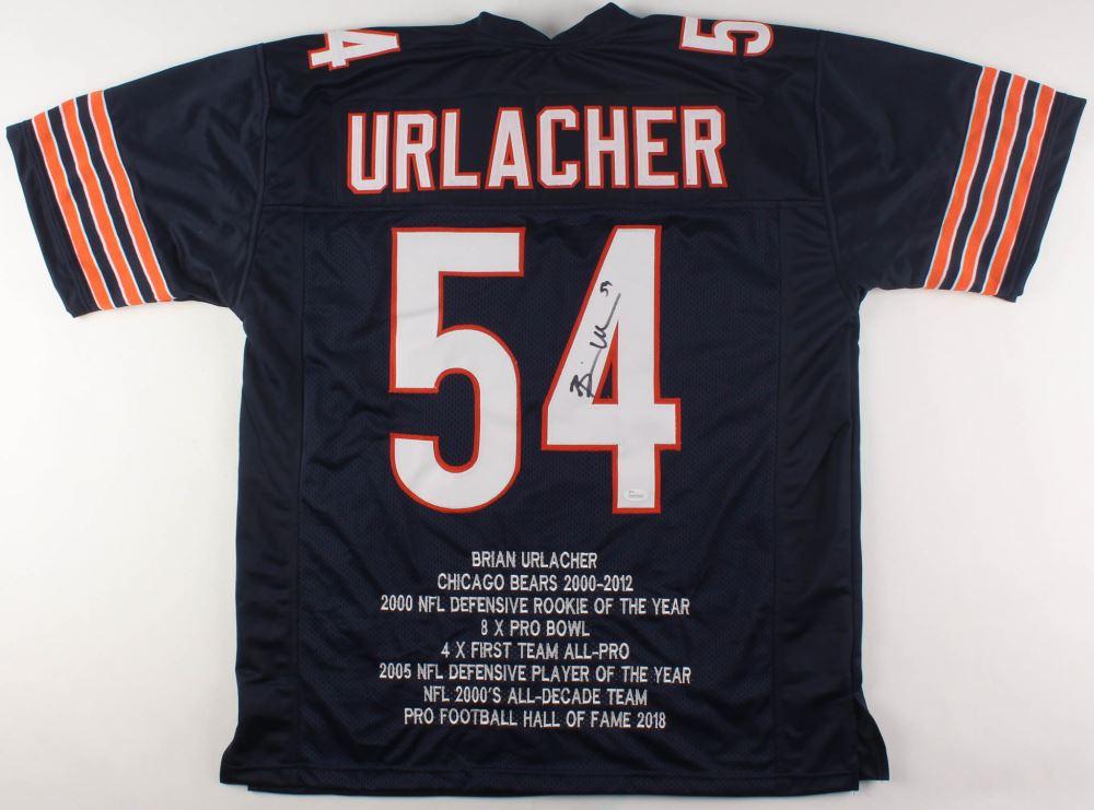 quite nice 7e4bd c612c Brian Urlacher Signed Bears Career Highlight Stats Jersey ...