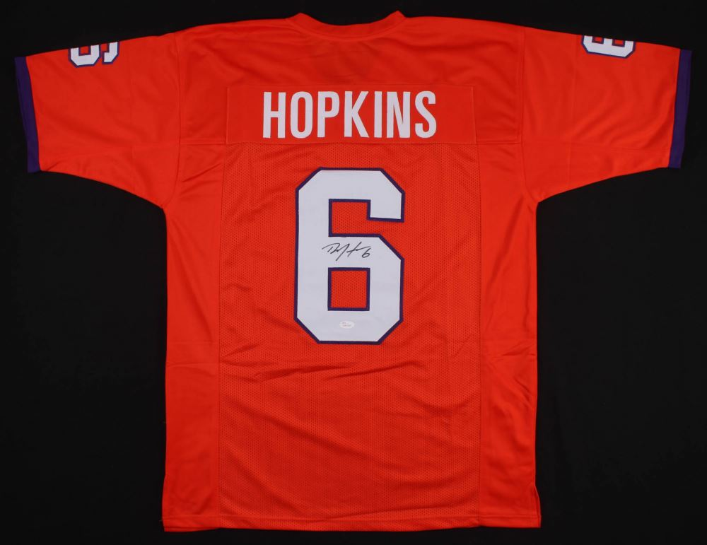 timeless design a3302 c45db DeAndre Hopkins Signed Clemson Tigers Jersey (JSA COA)