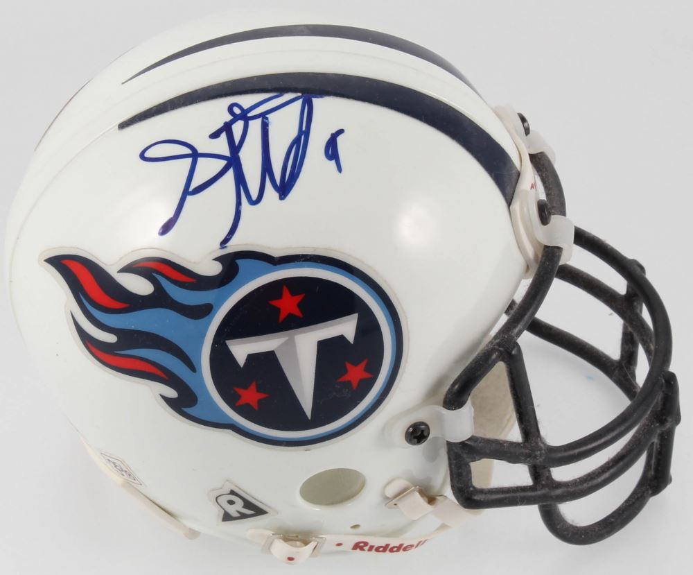 newest collection 8cff0 fd45a Steve McNair Signed Titans Mini Helmet (JSA COA)